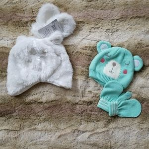 Carter's hat and mittens for baby